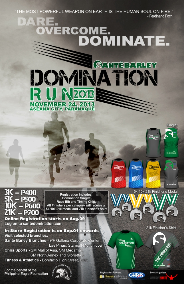 domination poster as of Aug 7